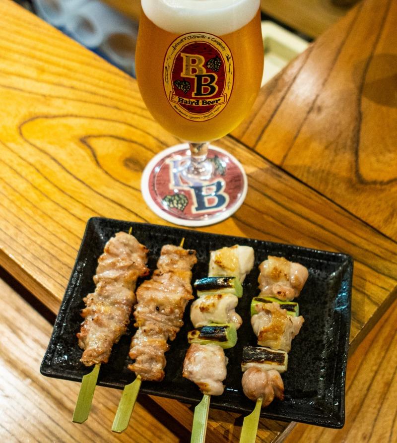 クラフトビールと焼き鳥